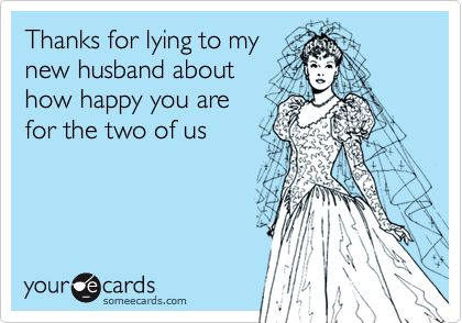 Thanks for lying to my