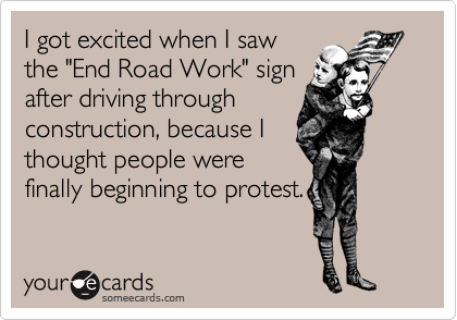 I got excited when I saw