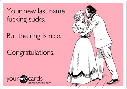 Your new last name