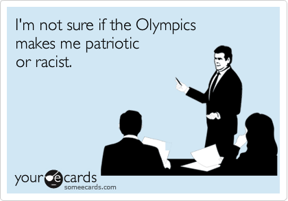 I'm not sure if the Olympics