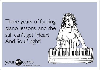Three years of fucking