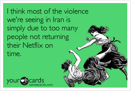 I think most of the violence