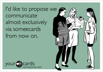 I'd like to propose we