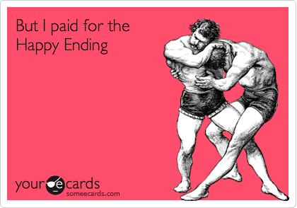But I paid for the