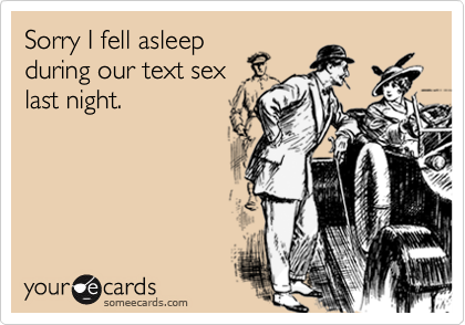 Sorry I fell asleep