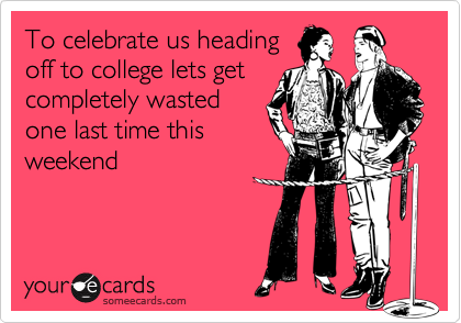 To celebrate us heading