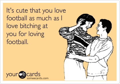 It's cute that you love