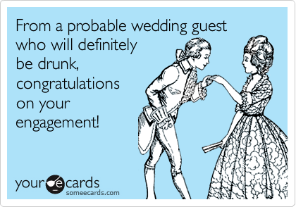 From a probable wedding guest