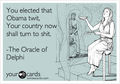 You elected that