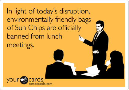 In light of today's disruption, environmentally friendly bags 