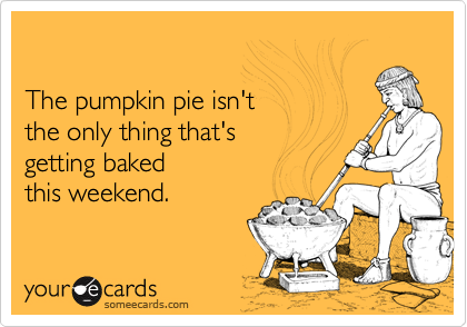 The pumpkin pie isn't
