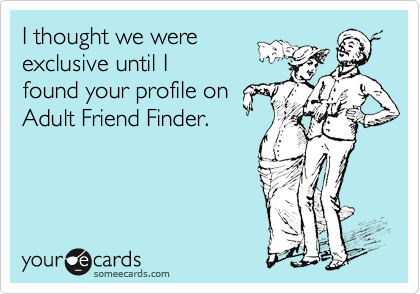 I thought we were 
