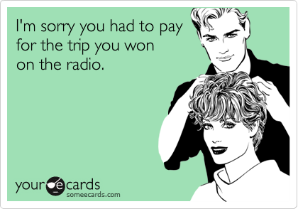 I'm sorry you had to pay
