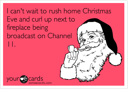 I can't wait to rush home Christmas Eve and curl up next to