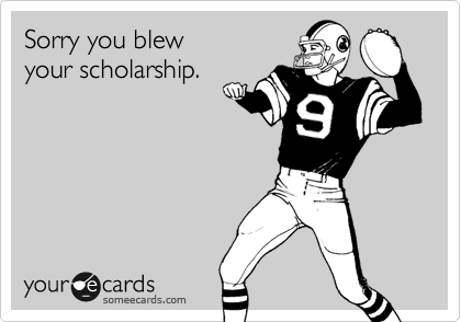 Sorry you blew