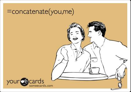 =concatenate(you,me)