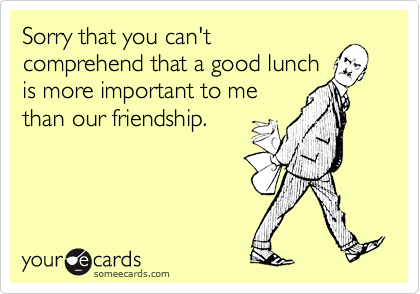 Sorry that you can't