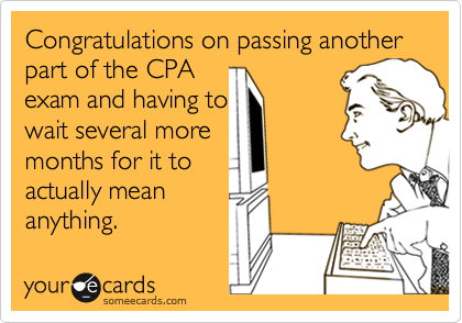 Ecard congratulations exam