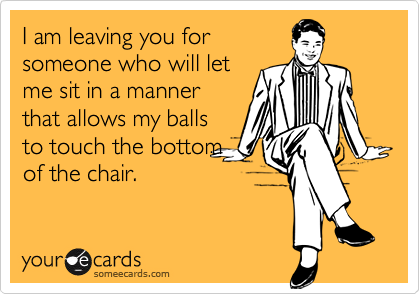 I am leaving you for