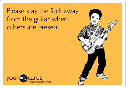 Please stay the fuck away