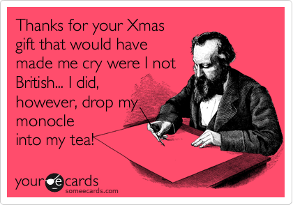 Thanks for your Xmas