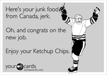 Here's your junk food