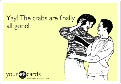 Yay! The crabs are finally