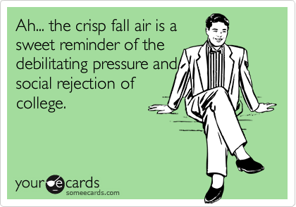 Ah... the crisp fall air is a