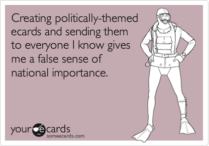 Creating politically-themed