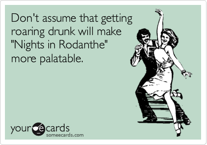 Don't assume that getting