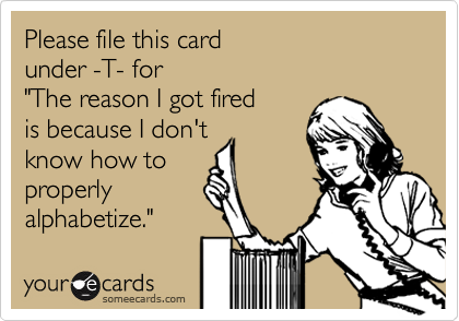 Please file this card 