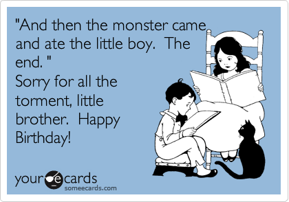 And Then The Monster Came Ate Little Boy End