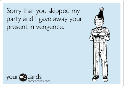 Sorry that you skipped my
