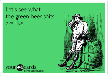 Image result for green beer funny
