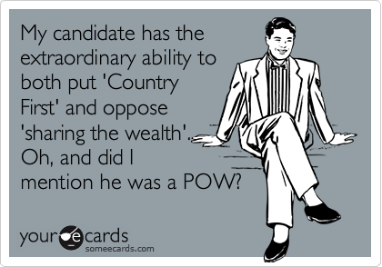 My candidate has the