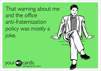 That warning about me