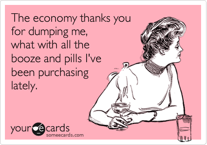 The economy thanks you