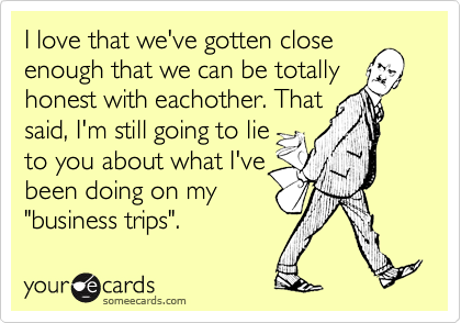 I love that we've gotten close