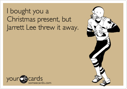 I bought you a