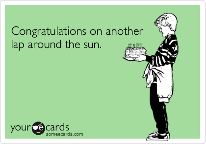 Congratulations on another