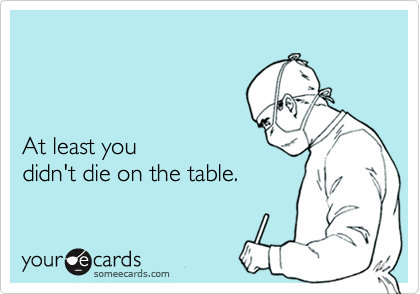 At least you 