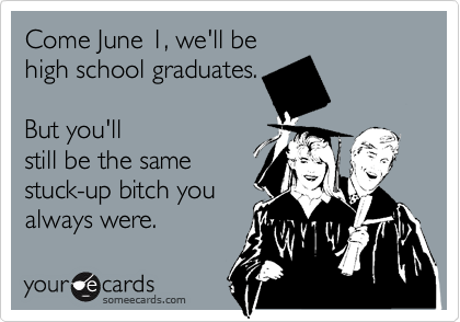 Come June 1, we'll be