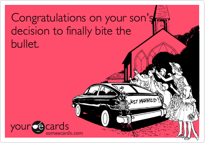 Congratulations on your son's