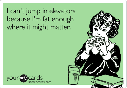 I can't jump in elevators