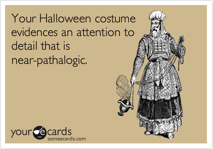 Your Halloween costume