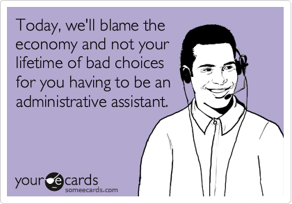 Today, we'll blame the