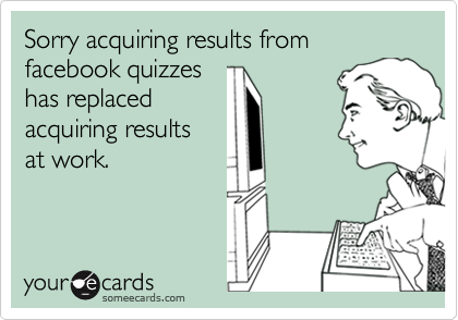 Sorry acquiring results from facebook quizzes
