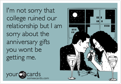 I'm not sorry that