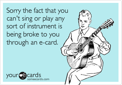 Sorry the fact that you