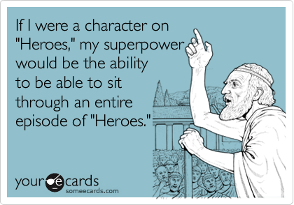 If I were a character on